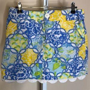 Lilly Pulitzer monkey & fruit mini skirt 4